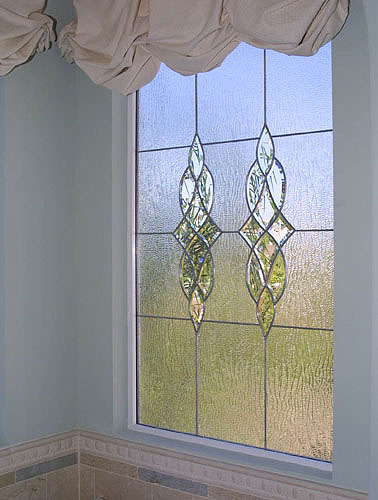 Vine glass is an option of obscure glass available for areas needing privacy